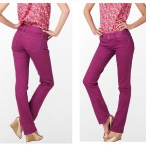 Lilly Pulitzer Worth Straight Leg Purple Jeans